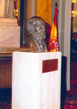 Busto de D. Santiago Ramón y Cajal en el Senado