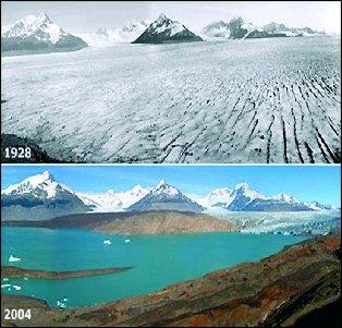 Evolución del glaciar Lewis en Monte Kenya