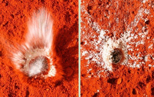 Simulación del impacto de un meteorito