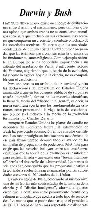 Editorial del diario El País, 14 de agosto de 2005