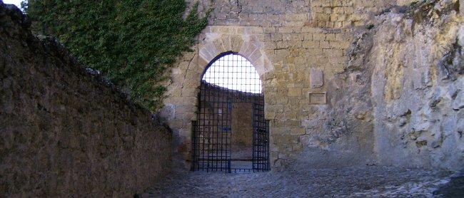 Arco de la Torre de la Imagen en la fortaleza de la Mota